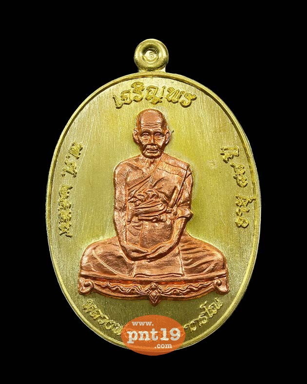 เหรียญเจริญพร ๘๘ เนื้อฝาบาตร หน้ากากทองแดง หลวงพ่อหลาย วัดนาจอมเทียน