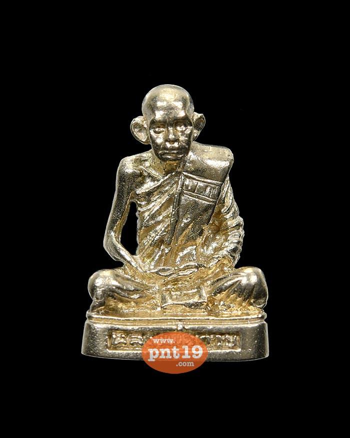 รูปหล่อฐานมะอะอุ ย้อนยุคพิมพ์นิยม รุ่น กตัญญู ทองขาว หลวงพ่อกวย ชุตินฺธโร วัดโฆสิตาราม (วัดบ้านแค)