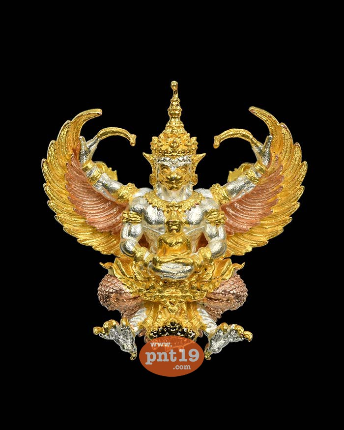 พญาครุฑเศรษฐีเงินไหลมา(พิมพ์เล็ก 2.5 ซ.ม.) 2.4 สามกษัตริย์ วัดพระมหาธาตุ วรมหาวิหาร