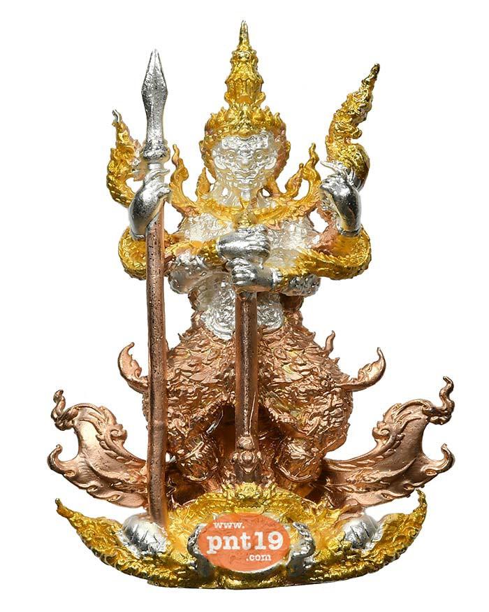 รูปหล่อท้าวเวสสุวรรณ มหาอำนาจ 7.2 สัมฤทธิ์ชุบสามกษัตริย์ หลวงปู่พวง วัดโคกตาสิงห์(เทพนรสิงห์)