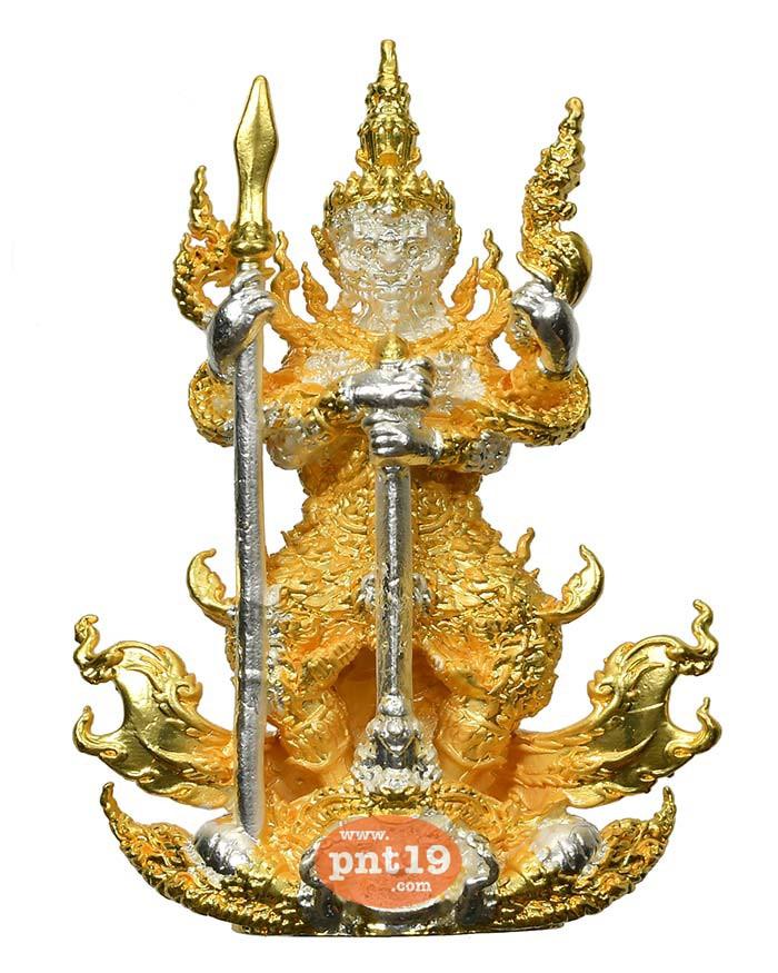 รูปหล่อท้าวเวสสุวรรณ มหาอำนาจ 7.3 สัมฤทธิ์ชุบสองกษัตริย์ หลวงปู่พวง วัดโคกตาสิงห์(เทพนรสิงห์)
