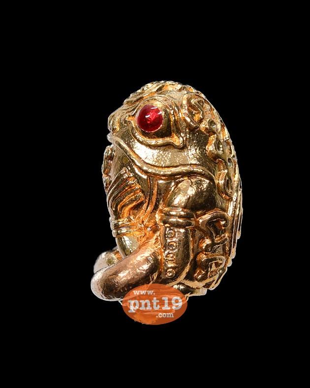 พญากบกินเดือน รุ่นแรก ราชาทรัพย์แสนอนันต์ 10 เนื้อทองชมพู หลวงปู่แสน วัดบ้านหนองจิก