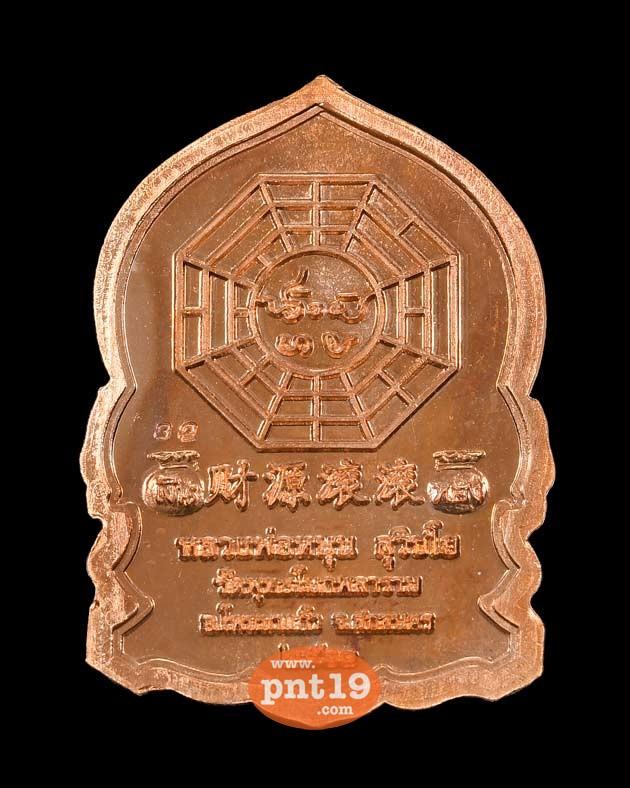เหรียญสิงห์คาบดาบ เนื้อทองแดงผิวไฟลงยา หลวงพ่อหนุน วัดพุทธโมกพลาราม
