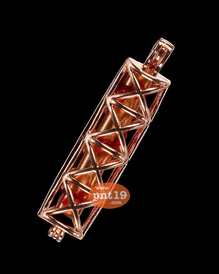 ตะกรุดขุนแผนชมตลาด รุ่น2 ทองแดงเถื่อน(ตรึงด้ายแดงชาดหรคุณ) ครูบาหนุนดวง วัดหนองหวาย