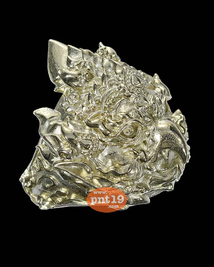 แหวนพญาครุฑ รุ่นแรก เงินซิลเวอร์พลัส (Size 62) ครูบาแบ่ง วัดโตนด