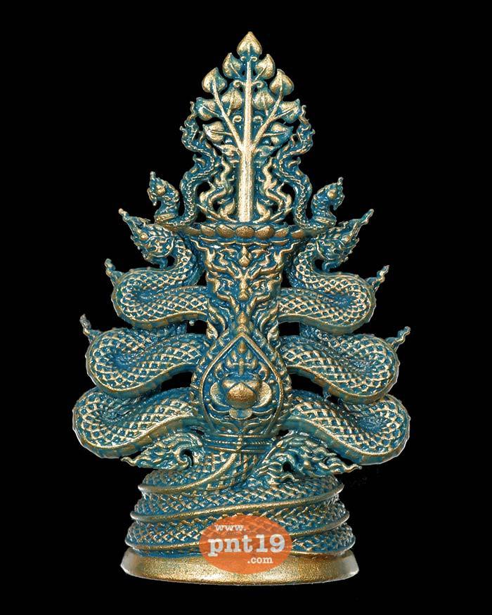 พระกริ่งมุจลินท์นาคราชโพธิสักการ(4.1ซ.ม.) Bronze Drawing (น้ำเงิน) งานพุทธศิลป์