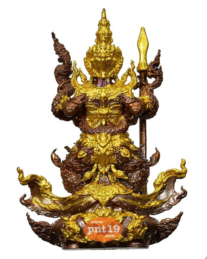 รูปหล่อท้าวเวสสุวรรณ มหาอำนาจ 7.4 มันปู เครื่องทรงทาทองบางส่วน หลวงปู่พวง วัดโคกตาสิงห์(เทพนรสิงห์)