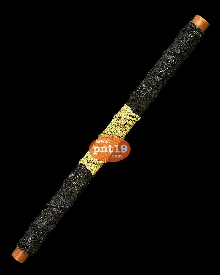 ตะกรุดทองแดง 5 แชะ ลงรักปิดทอง ขนาด 5 นิ้ว หลวงพ่อยอด วัดตะคร้อ