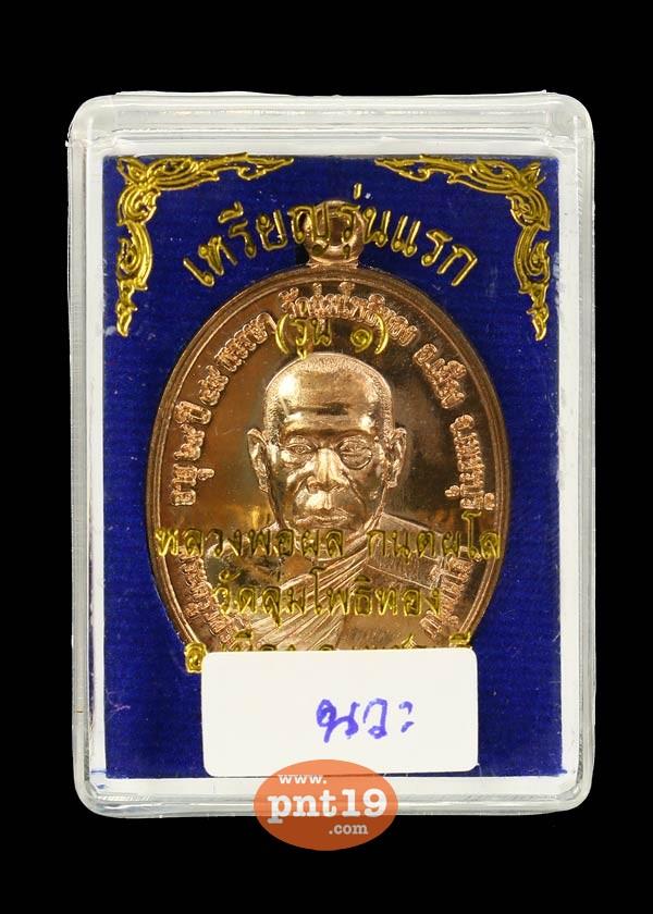 เหรียญรูปไข่รุ่นแรก เนื้อนวะ หลวงพ่อผล วัดลุ่มโพธิทอง